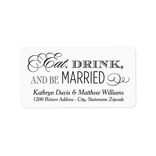 Vitbröllopretur | äter drinken och att gifta sig adressetikett