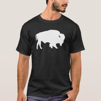 Vitbuffelsilhouetten skuggar beasten t-shirt