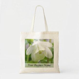 VitColumbine blomma - Aquilegia Tygkasse