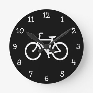 Vitcykelrutt Rund Klocka