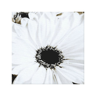 Vitdaisy - skräddarsy daisyblommamall canvastryck