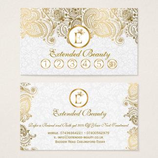 Vitdamaster & guld- kort för Paisley