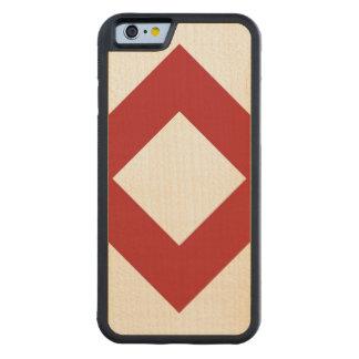 Vitdiamant, djärv röd gräns carved lönn iPhone 6 bumper skal