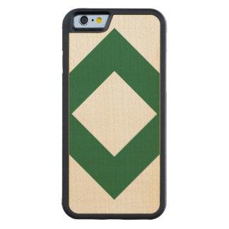 Vitdiamant, sätta en klocka på grön gräns carved lönn iPhone 6 bumper skal