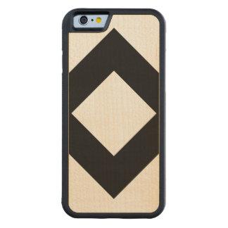 Vitdiamant, sätta en klocka på svart gräns carved lönn iPhone 6 bumper skal