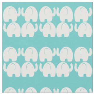 Vitelefanten fodrar mönster Aqu Tyg