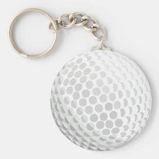 Vitgolfboll för golfare - handikapp eller inte! rund nyckelring