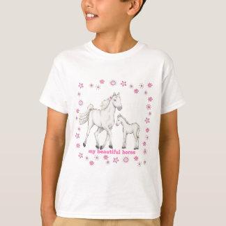 """Vithäst - """"min härliga häst """", t-shirt"""