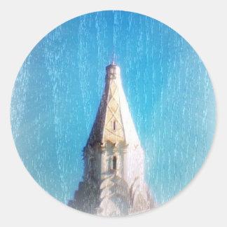 Vitkolonn av den Kolomenskoye klistermärken