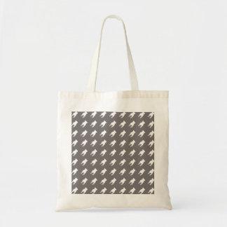 VitmopsSilhouettes på grå färgbakgrund Tygkasse