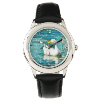 VitPekin anka - naturfoto i reflexioner Armbandsur