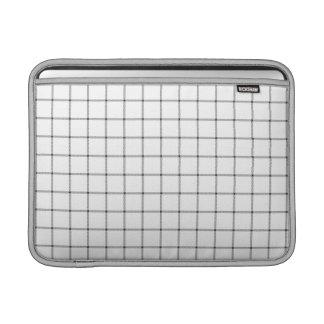 Vitpläd Sleeves För MacBook Air