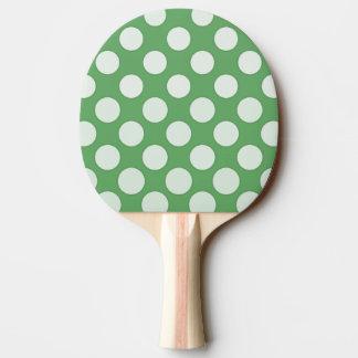 Vitpolka dots på limefruktgrönt pingisracket