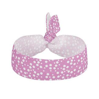 Vitpolka dots på rosa hårTies Hårband