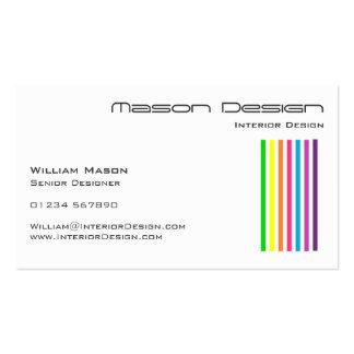 Vitregnbågen görar randig visitkorten set av standard visitkort