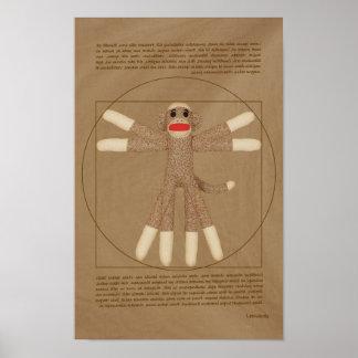 Vitruvian apaaffisch poster