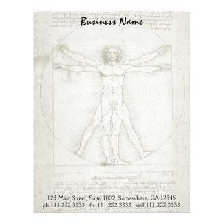 Vitruvian man av Leonardo Da Vinci Brevhuvud