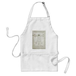 Vitruvian man av Leonardo Da Vinci Förkläde