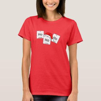 Vits för jul för inslag för HoHoHo Holmiumkemi T-shirt