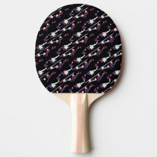 Vitskyttestjärnor med kometpingen Pong paddlar Pingisracket