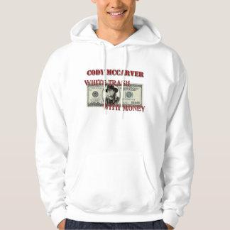 Vitsopor med pengar sweatshirt med luva