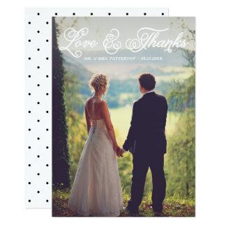 Vitsöten skrivar kortet för bröllopfototack 12,7 x 17,8 cm inbjudningskort