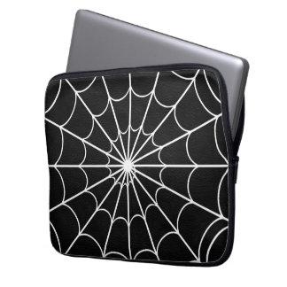 Vitspindel laptop sleeve för Neoprene för svart fö