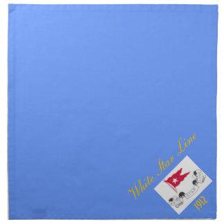 Vitstjärnan fodrar - middagservetter (blått) tygservett