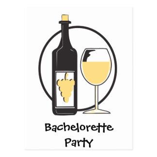 VitvinBachelorette party Vykort