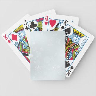 Vitvinterunderland med snöflingor spelkort