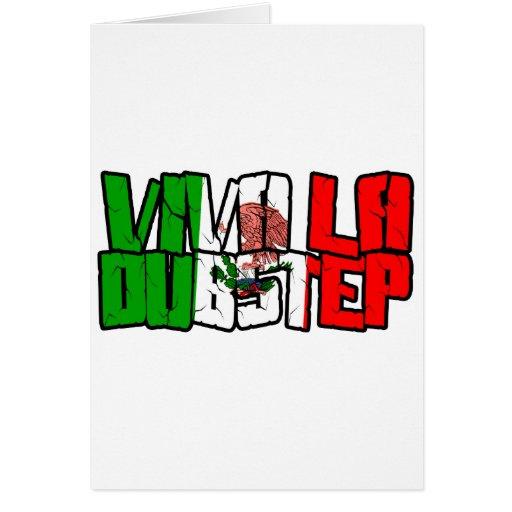Viva La Dubstep Camisetas Hälsnings Kort