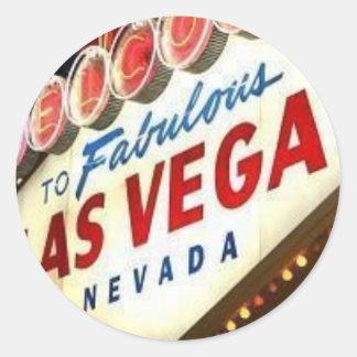 Viva Las Vegas Runt Klistermärke