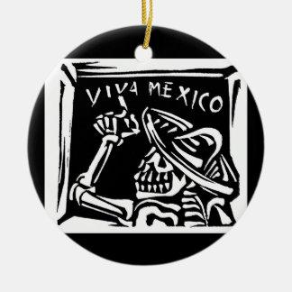 "Viva Mexico Mexico ""day of the dead "", Julgransprydnad Keramik"