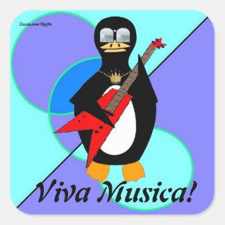Viva Musica Fyrkantigt Klistermärke