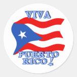 Viva Puerto Rico produkter Rund Klistermärke