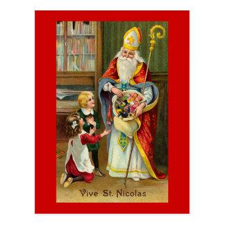 """""""Vive fransk vintage för St. Nicolas"""" Vykort"""