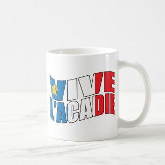 Vive l'acadie kaffemugg