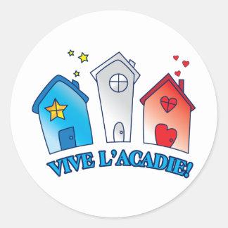 """Vive L'acadie """"Maison """", Runt Klistermärke"""