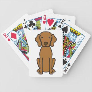 Vizsla hundtecknad spelkort