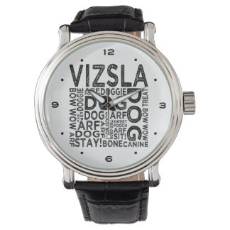 Vizsla typografi armbandsur