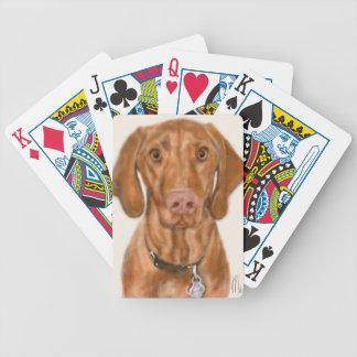 Vizsla valp spelkort