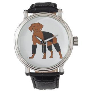 Vizsla Velcrohunden Armbandsur