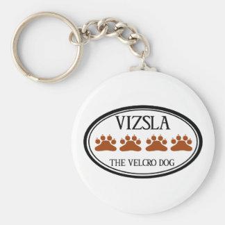 Vizsla Velcrohundkeychainen Rund Nyckelring