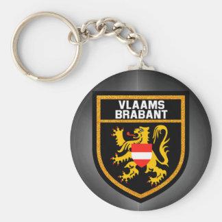 Vlaams-Brabant flagga Rund Nyckelring