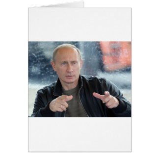 Vladimir Putin Hälsningskort