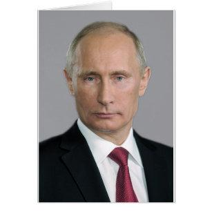 Vladimir Putin utrustar Hälsningskort