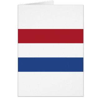 Vlag skåpbil Nederland - flagga av Nederländerna Hälsningskort