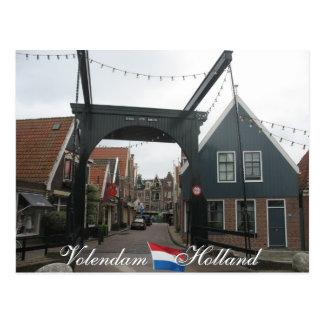 Volendam DrawbridgeHolland vykort