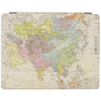 Volkerkarte von Asien - karta av Asien iPad Skydd