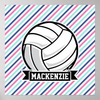 Volleyboll; Blått, rosor & vitrandar, sportar